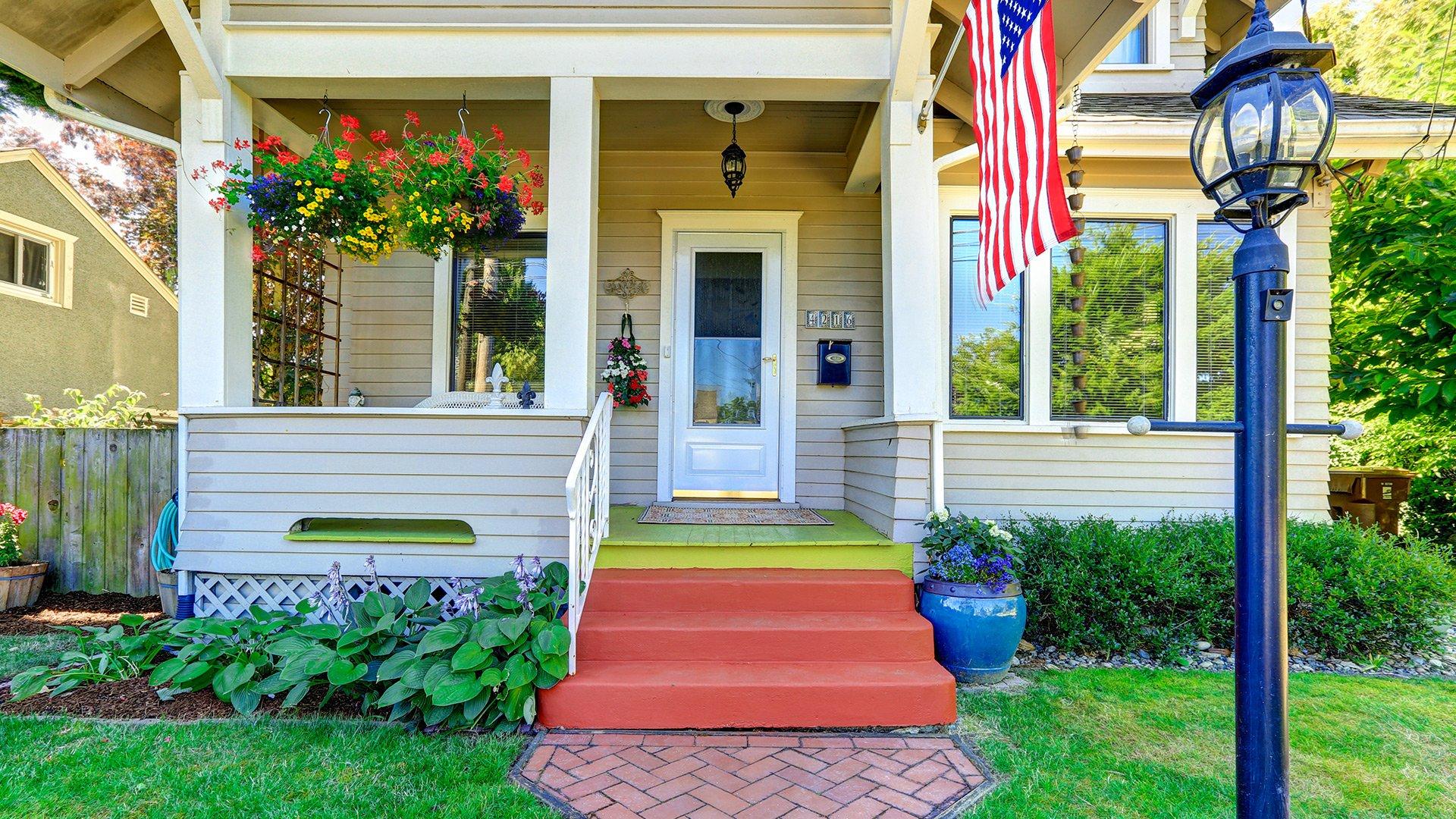 Colorful HVAC company house