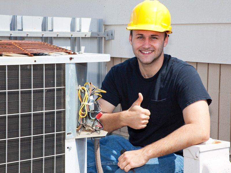 HVAC company tech